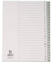 Przekładki Q-CONNECT, PP, A4, 230x297mm, A-Z, 20 kart, szare