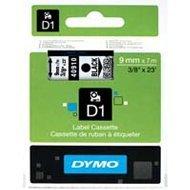Dymo taśma do drukarek etykiet, D1 40910 | 9mm x 7m | czarny / przezroczysty