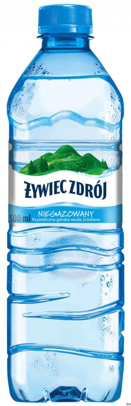 Woda ŻYWIEC ZDRÓJ 0.5l niegazowana