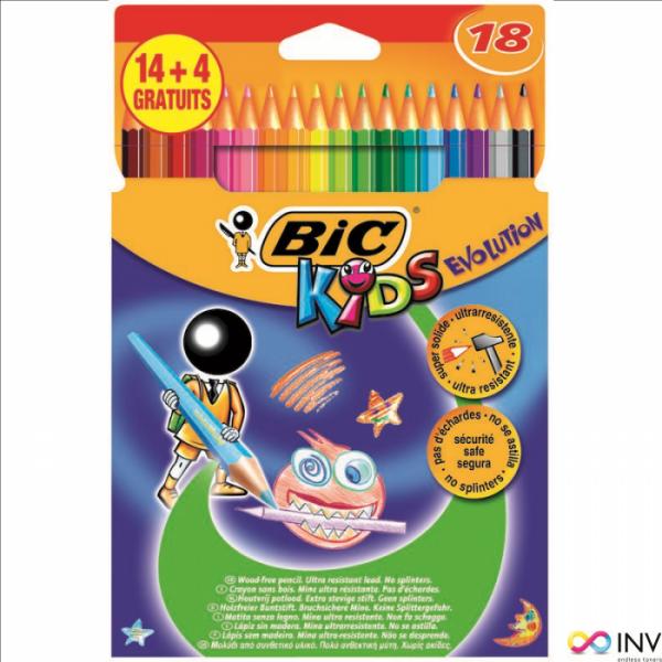 Kredki BIC Evolution 14+4kolorów 829032