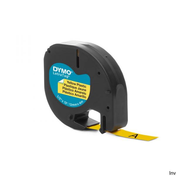 Taśma DYMO 12mm/4m - plastikowa, żółta S0721620