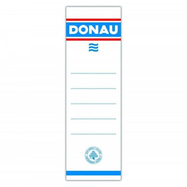 Etykiety wsuwane do segregatora DONAU, 48x153mm, dwustronne, 20szt.