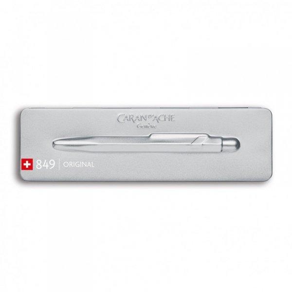 Długopis CARAN D'ACHE 849 Original, M, w pudełku, srebrny