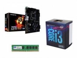 ZESTAW INTEL i3-8100+GIGABYTE Z370-HD3+8GB DDR4 Fv