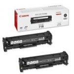 Zestaw dwóch tonerów Canon CRG718BK black do Canon I-Sensys LBP-7200Cdn / LBP-7680Cxna / LBP-7660Cdn / MF-8350Cdn / MF-8330Cdn / MF-8380Cdw 2x3400 str.black dwupak
