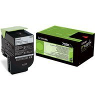 Kaseta z tonerem Lexmark 702K do CS-310/410/510 | zwrotny | 1 000 str. | black