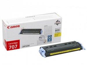 Toner oryginalny Canon 707 yellow do LBP-5000 LBP-5100 na 2 tys CRG707