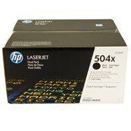 Zestaw dwóch tonerów HP 504XD do Color LaserJet 3525/3530| 2x10 500 str. | black