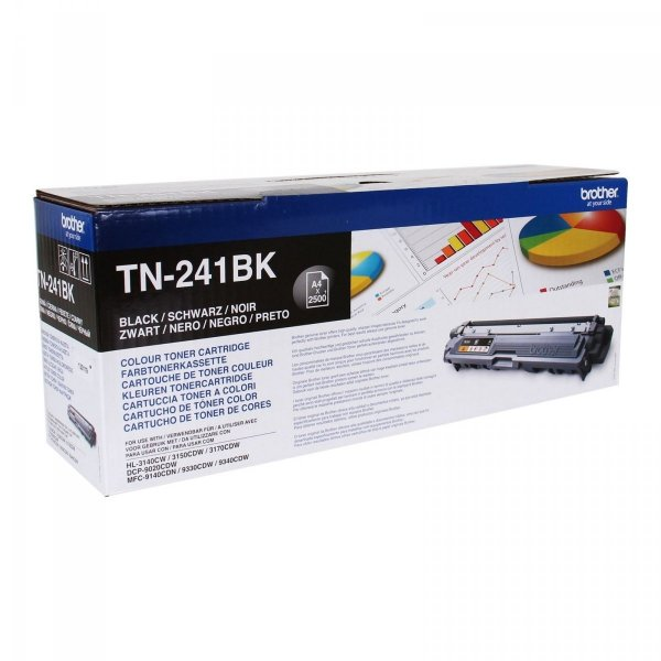 Toner oryginalny Brother TN241BK black do  HL-3140CW / HL-3150 / HL-3170 / DCP-9020 / MFC-9140CDN na 2,5 tys. str. TN-241BK