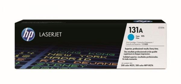 Toner oryginalny HP 131A (CF211A) cyan do HP LaserJet Pro 200 color MFP M276n / Pro 200 color MFP 276nw / Pro 200 color M251n / Pro 200 color M251nw na 1,8 tys. str.