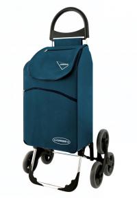 Wózek na zakupy Parigi granatowy, firmy Aurora