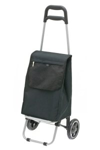 Wózek na zakupy Minishop kolor czarny, firmy Secc