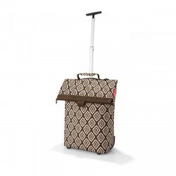 Torba na kółkach Trolley M kolor Diamonds Mocha, firmy Reisenthel