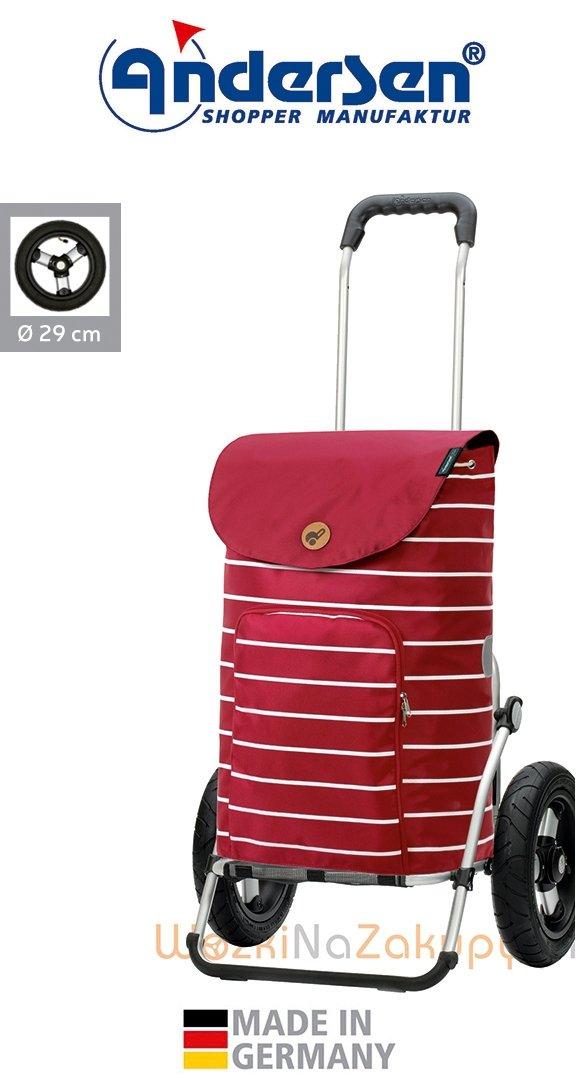 Wózek na zakupy Royal 165 Mia czerwony, firmy Andersen