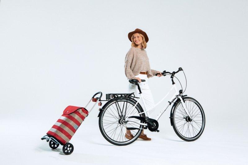 Wózek na zakupy Scala Lina czerwony, firmy Andersen