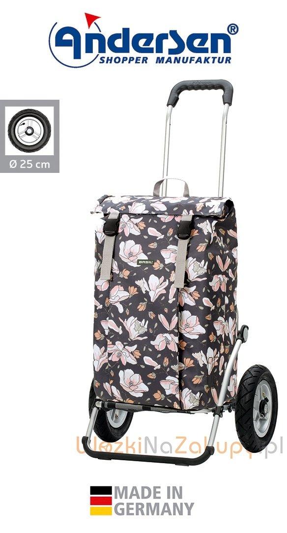 Wózek na zakupy Royal 163 Basil-Magnolia różowy, firmy Andersen
