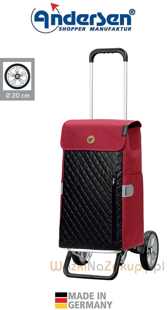 Wózek na zakupy Alu Star Mari czerwony, firmy Andersen