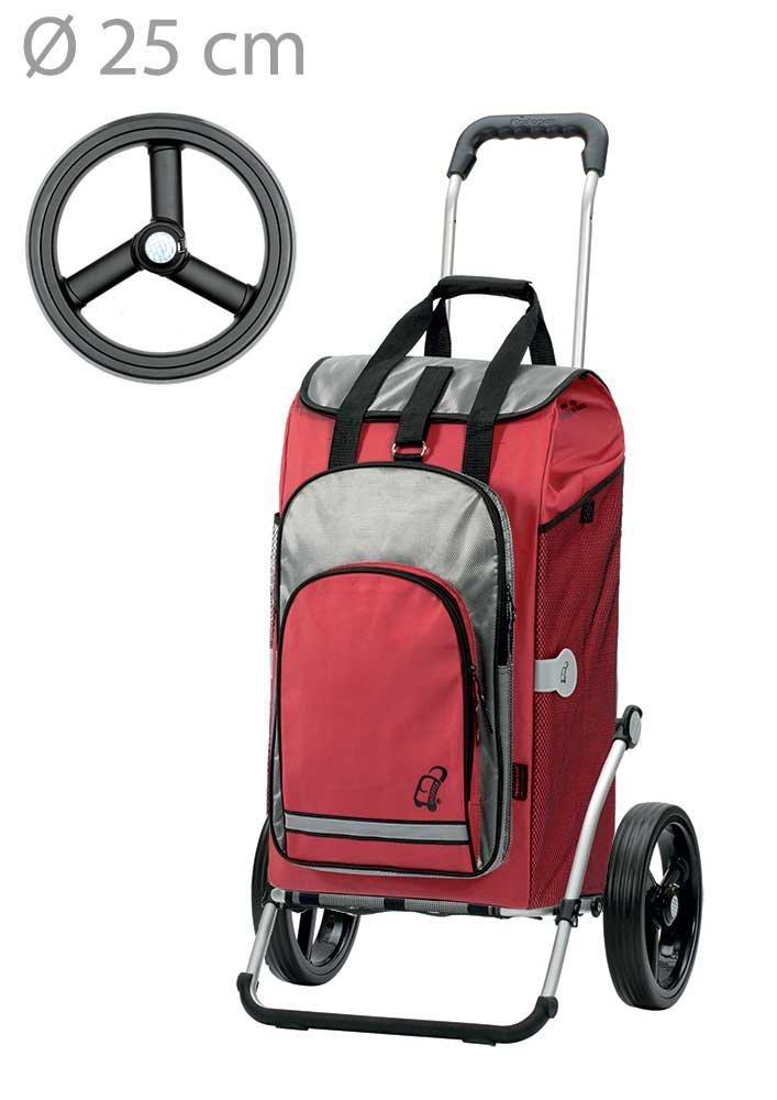 Wózek na zakupy Royal 166 Hydro czerwony, firmy Andersen