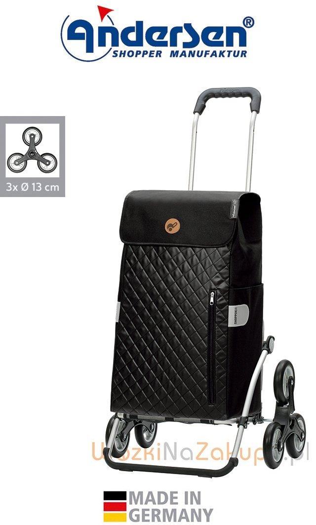Wózek na zakupy Royal 6 Mari czarny, firmy Andersen