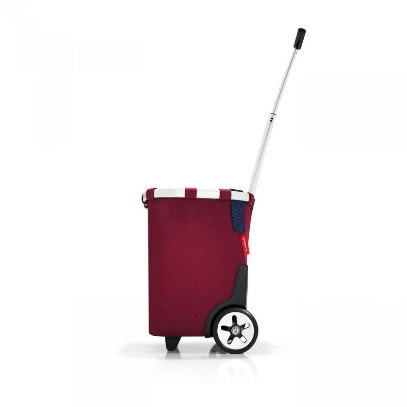 Wózek na zakupy Carrycruiser kolor Dark Ruby, firmy Reisenthel