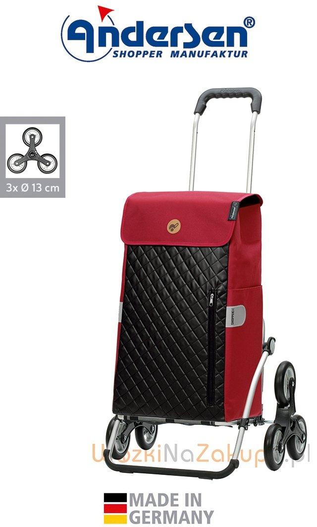 Wózek na zakupy Royal 6 Mari czerwony, firmy Andersen