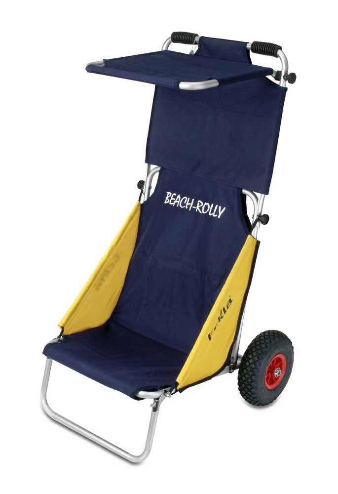 Wózek turystyczny Beach-Rolly - koła pneumatyczne i daszek, firmy Eckla
