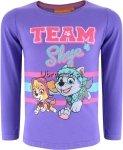 Bluzka Psi Patrol dla dziewczynki Skye fioletowa