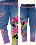 Ocieplane legginsy Myszka Minnie kolorowe