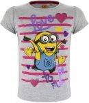 T-shirt Minionki z cekinami szary