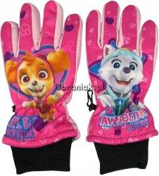 Rękawiczki Narciarskie Psi Patrol jasny róż
