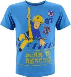 Koszulka Strażak Sam na linie niebieska