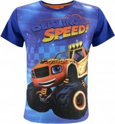 T-shirt Blaze i Mega Maszyny niebieski
