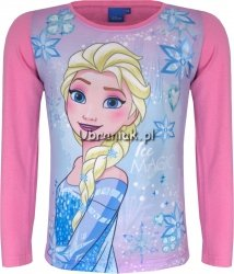 Bluzka Kraina Lodu Królowa Elsa róż