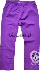 Legginsy 3/4 My Little Pony Rarity fioletowe