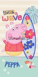 Ręcznik kąpielowy Świnka Peppa kwiaty