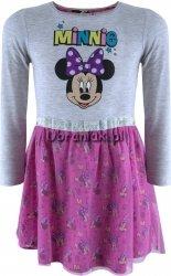 Sukienka Myszka Minnie szaro-różowa