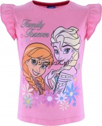 T-shirt Kraina Lodu Family Forever róż