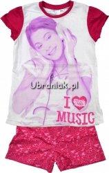 Piżama Violetta krótki rękaw róż Music