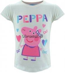 T-shirt Świnka Peppa ecru