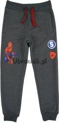 Spodnie dresowe Spiderman ciemny szary melanż