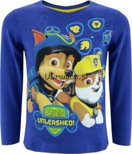 Bluzka Psi Patrol Chase i Rubble niebieska