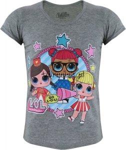 T-shirt z laleczkami LOL SURPRISE szary