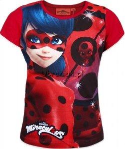 T-shirt Miraculum Biedronka i Czarny Kot czerwony