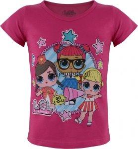 T-shirt z laleczkami LOL SURPRISE różowy