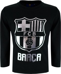Bluzka Fc Barcelona srebrne logo czarna