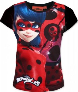 T-shirt Miraculum Biedronka i Czarny Kot czarny