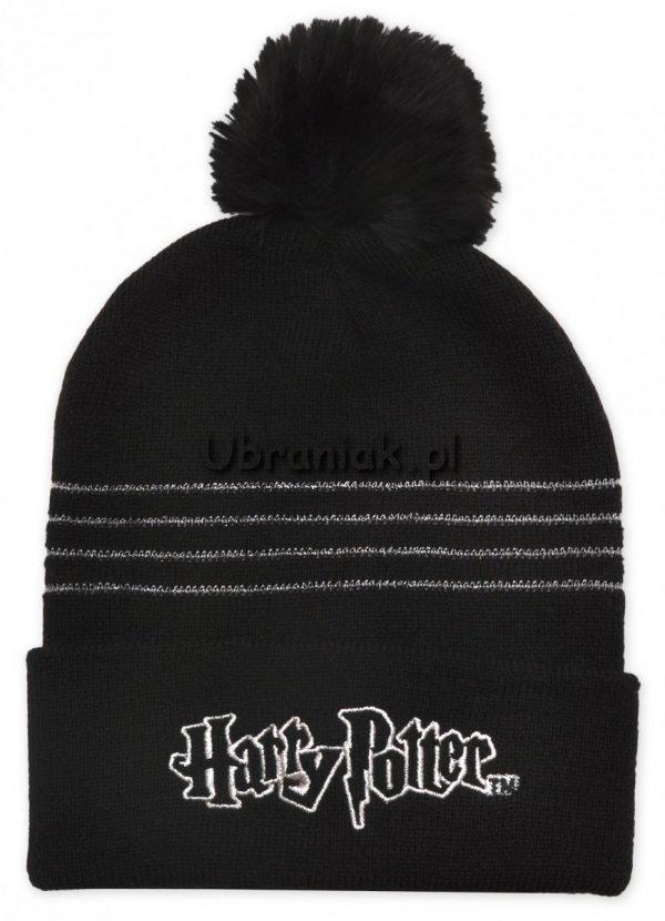 Czapka zimowa Harry Potter srebrna nitka