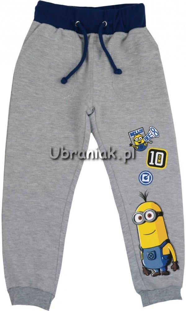Spodnie dresowe Minionki szare