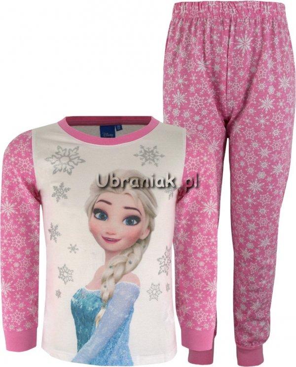 Piżama Kraina Lodu Elsa w płatki śniegu róż