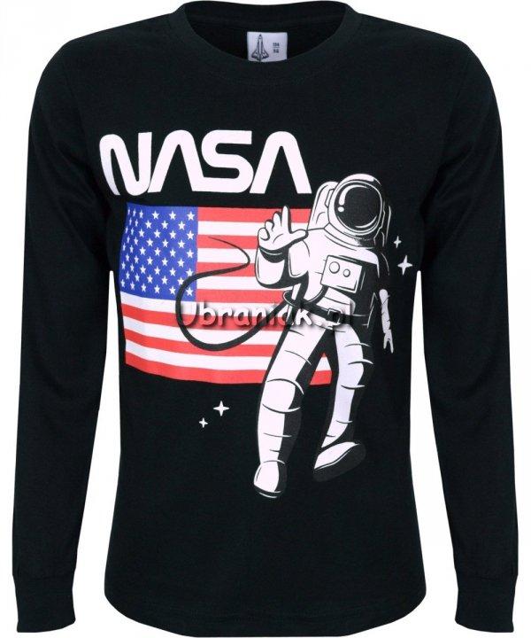 Bluzka NASA Flaga czarna